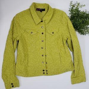Spring Green Jean Jacket Denim Trucker Jacket